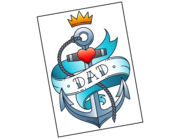 Lieferansicht Autoaufkleber Dad Anchor XS