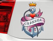 Autoaufkleber Grandpa Anchor XS