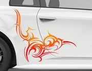 Autoaufkleber Flare Fire Tribal XS