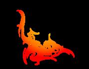 Lieferansicht Autoaufkleber Flare Fire Tribal XS