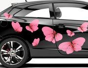 Autoaufkleber Fuchsia Butterflies XS