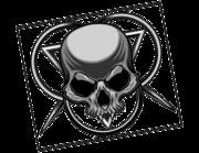 Lieferansicht Autoaufkleber Dark Skull Ornament XS