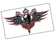 Lieferansicht Autoaufkleber Skull with Wings XS