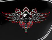Autoaufkleber Skull with Wings XS