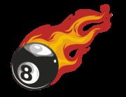 Lieferansicht Autoaufkleber Burning Eightball XS