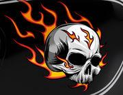 Autoaufkleber Burning Skull XS