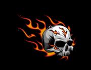 Lieferansicht Autoaufkleber Burning Skull XS