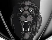 Autoaufkleber Black Lion Head XS