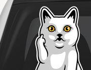 Autoaufkleber FU Kitty XS