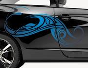 Autoaufkleber Tribal Wave Paora XS