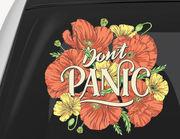 Autoaufkleber Don't Panic Poppies XS