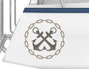 Bootsaufkleber Anker-Kette-Emblem XS einseitig