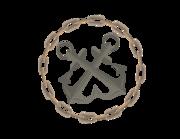 Lieferansicht Bootsaufkleber Anker-Kette-Emblem XS einseitig