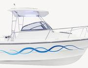 Bootsaufkleber Welle Marino XS