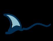 Lieferansicht Bootsaufkleber Wellensegler XS