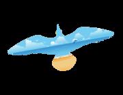 Lieferansicht Bootsaufkleber Strandmöve XS