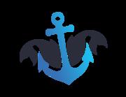 Lieferansicht Bootsaufkleber Ankerfisch XS