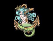 Lieferansicht Bootsaufkleber Meerjungfrau Pearlia XS
