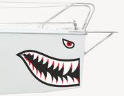 Bootsaufkleber Haifisch Mackie XS