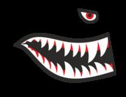 Lieferansicht Bootsaufkleber Haifisch Mackie XS