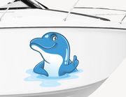 Bootsaufkleber Harvey der Delfine XS