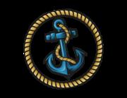 Lieferansicht Bootsaufkleber Anker-Tau-Emblem XS