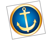 Lieferansicht Bootsaufkleber Anker Ocean Gold XS