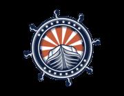 Lieferansicht Bootsaufkleber Steuerrad Waterfront XS