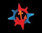 Lieferansicht Bootsaufkleber Anker & Kompass XS