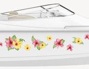Bootsaufkleber Hibiskus Aloha XS