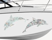 Bootsaufkleber Delphine Zentangle-Style XS