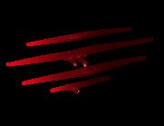 Lieferansicht Bootsaufkleber Bloody Claw Marks XS