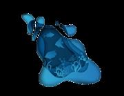 Lieferansicht Bootsaufkleber Paper-Art Ocean XS