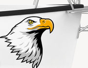 Bootsaufkleber Eagle Head XS