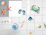 "Wandtattoo ""Aquarell Marin"" Meeresbewohner in Wasserfarben"