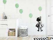 """Wandtattoo """"Hochhinaus""""- mit Ballons zu den Wolken fliegen"""