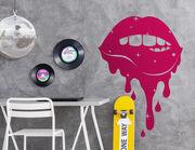 Wandtattoo Painted Lips: Süßer Mund mit Sternen und Tropfen