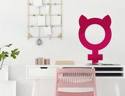 Für starke Mädels mit GRL-PWR: Wandtattoo Girl Power Symbol