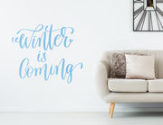 "Wandtattoo ""Winter is Coming Lettering"" für die Kuschelzeit!"