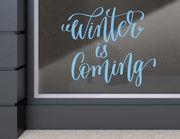 """Aufkleber """"Winter is Coming Lettering"""" als trendy Schriftzug"""