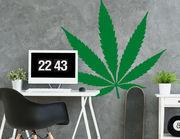 Let's talk Ganja: Wandtattoo Cool Cannabis mit Kult-Pflanze