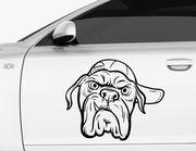 Autoaufkleber Bulldogge Marshall