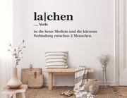 """Wandtattoo """"Lachen Orthografie"""": Sinnreich & gut für's Gemüt"""