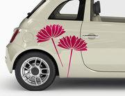 "Autoaufkleber ""Wasserlilien Hanako"" Blütenfächer aus Japan"