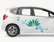 "Autoaufkleber ""Wasserlilie Akemi"": 2-farbige Blumenranke"