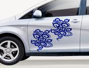 "Autoaufkleber ""Wolken-Tribal Kumo"": Schutz-Symbol aus Japan"