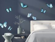 Wandtattoo Blaue Morpho-Schmetterlinge