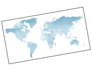 Wandtattoo Weltkarte Blue Watercolor Lieferansicht