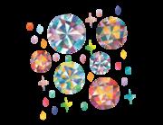 Wandtattoo Bunte Diamanten & Edelsteine Lieferansicht
