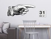 Wandtattoo Vintage Pointing Hand